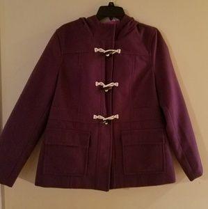 Old Navy womens LG Purple Hooded Peacoat